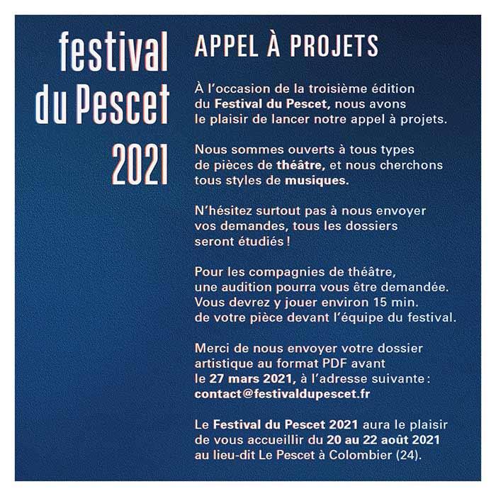 Festival du Pescet 2021 en partenariat avec le Cours Florent